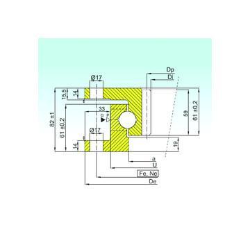 234428 MSP CX Упорные шарикоподшипники
