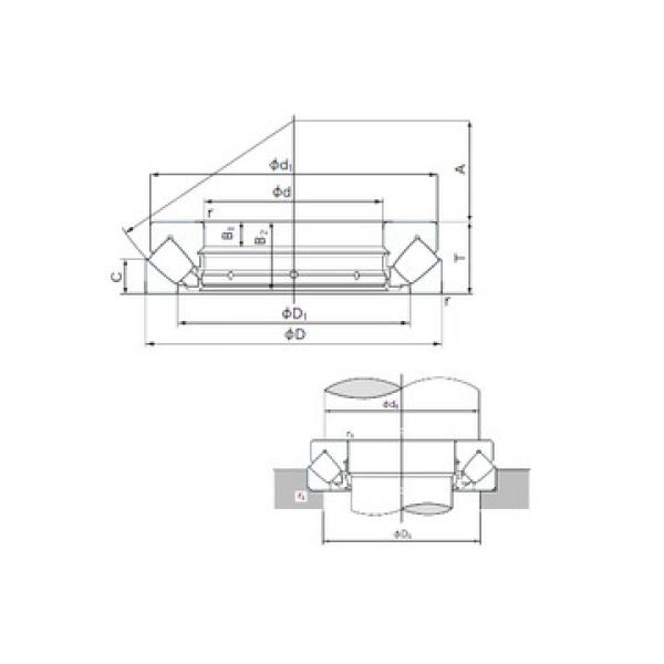 375XRN49 NACHI Упорные роликовые подшипники